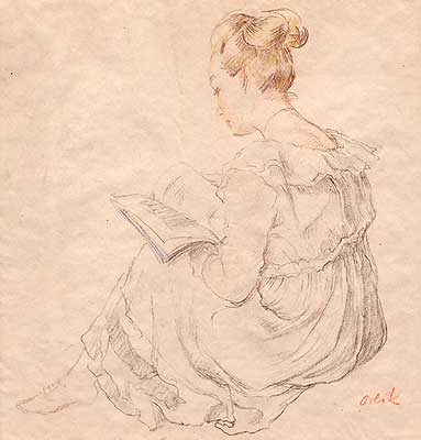 Young Lady Reading