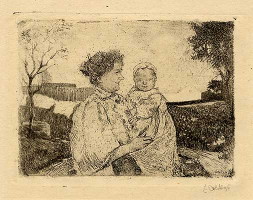Mutter mit lächelndem Kind  -  Mother with smiling child