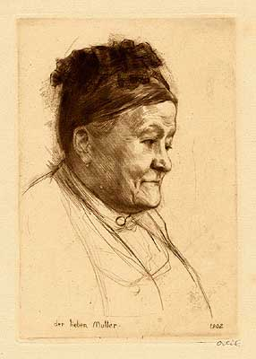 Der Lieben Mutter  -  Portrait of the artist's mother